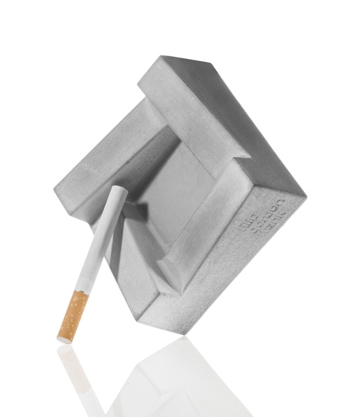 Ashley concrete ashtray by Filip Gordon Frank