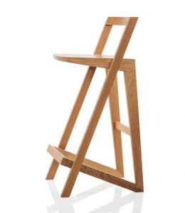 Styx wooden barstool by Filip Gordon Frank, natural