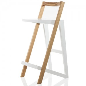 Styx wooden barstool by Filip Gordon Frank